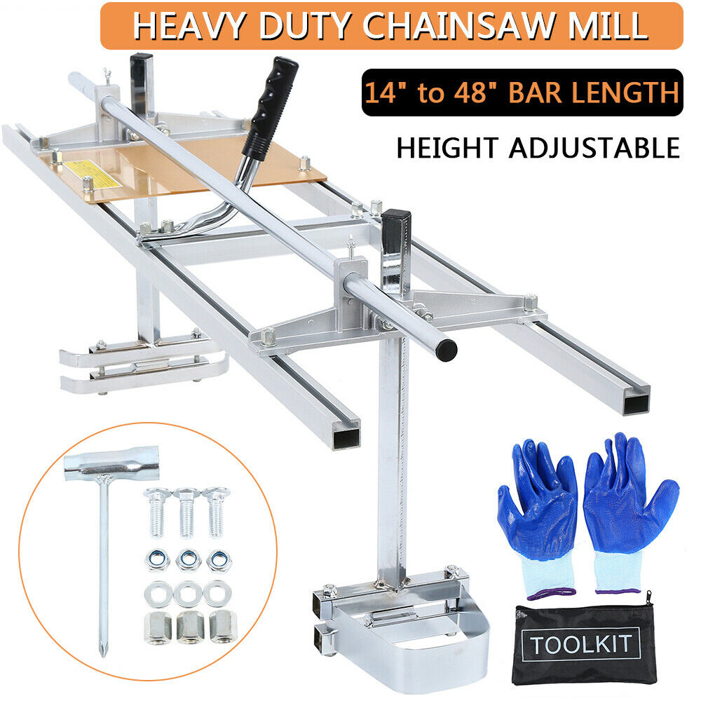 Honhill Mobile Portable Chain Saw for Chainsaw 14 '' - 48 '' Chainsaw Guide Bar for Wood Log enlarge