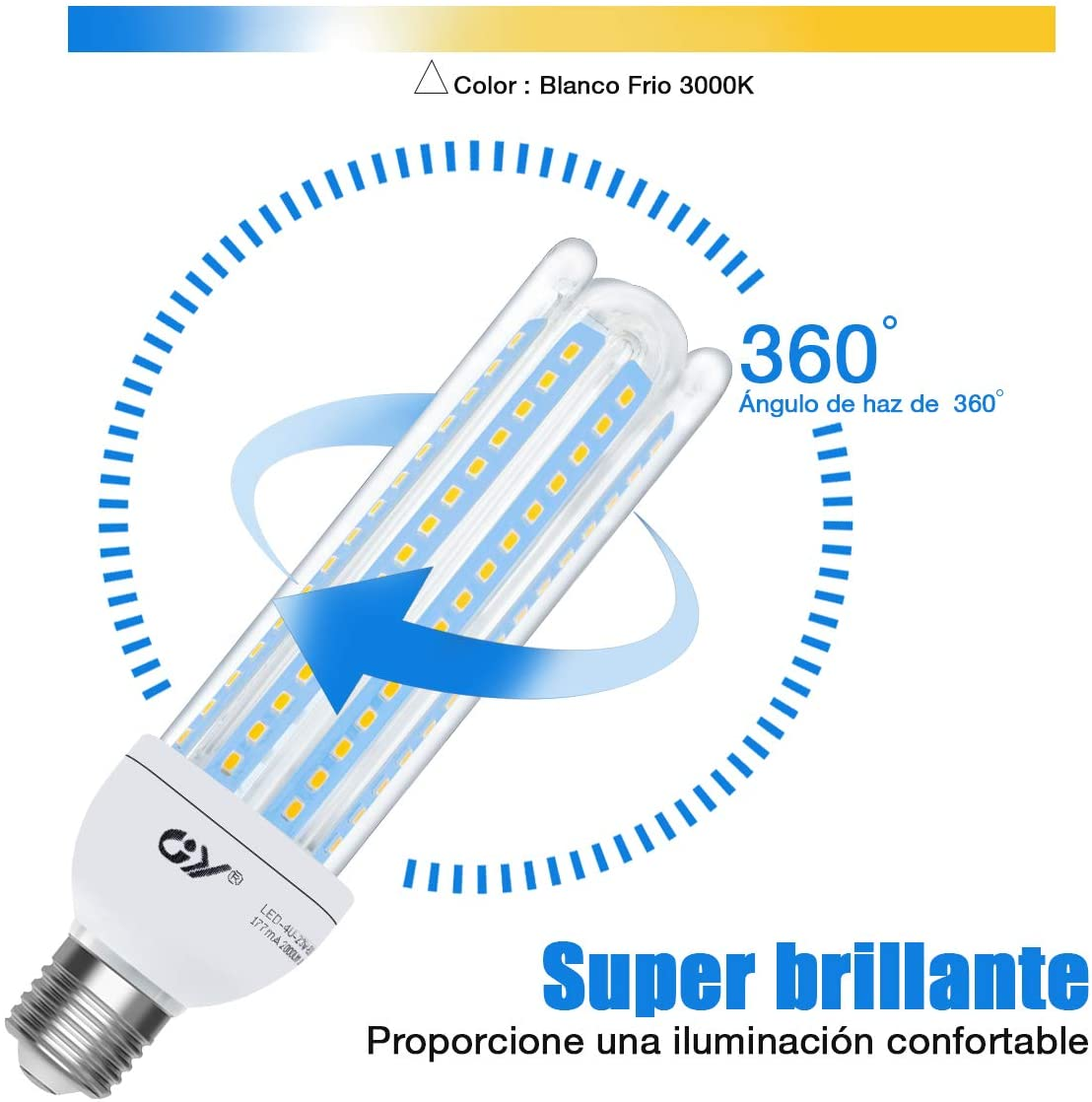 JY LED Bulb 220V E27 Corn light Bulbs 23W Energy saving LED lamp for bulb for Home Chandelier lighting LED corn light