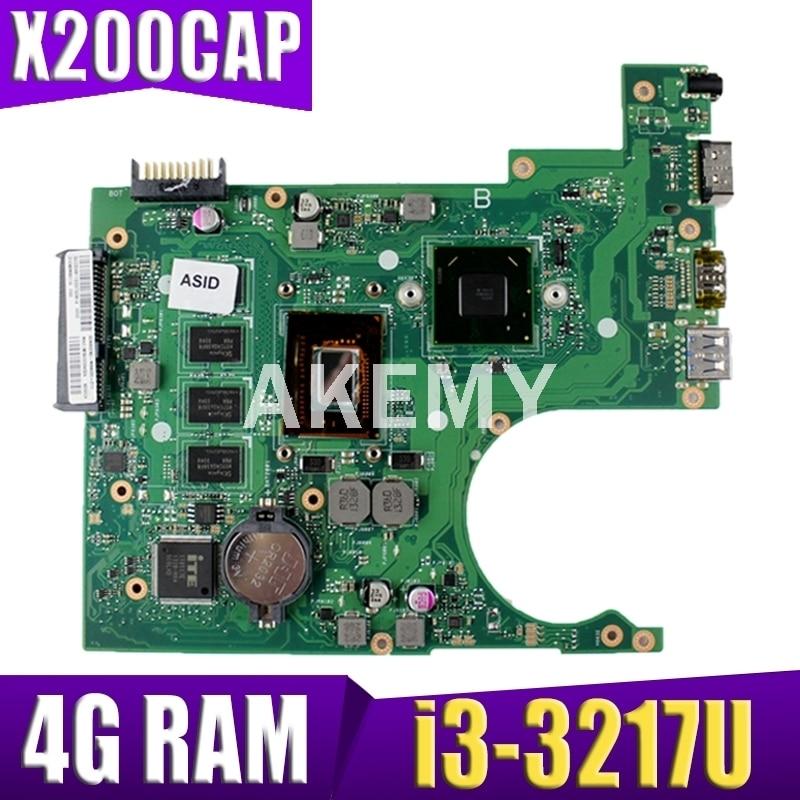 اللوحة الأم X200CA i3-3217CPU ذاكرة الوصول العشوائي 4GB ل ASUS X200C X200CA X200CAP اللوحة الأم X200CA اللوحة الأم REV 2.0 اختبار OK