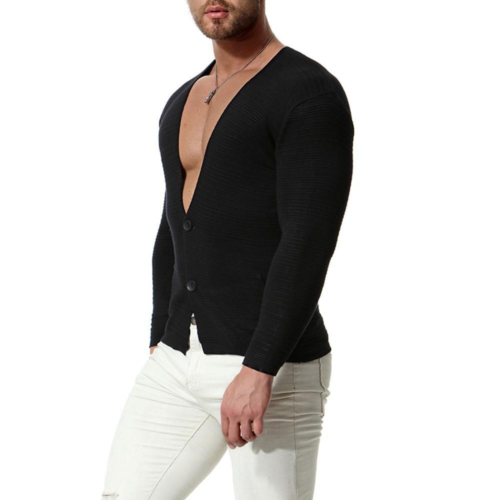 Suéter informal hombre Color sólido cálido suéteres