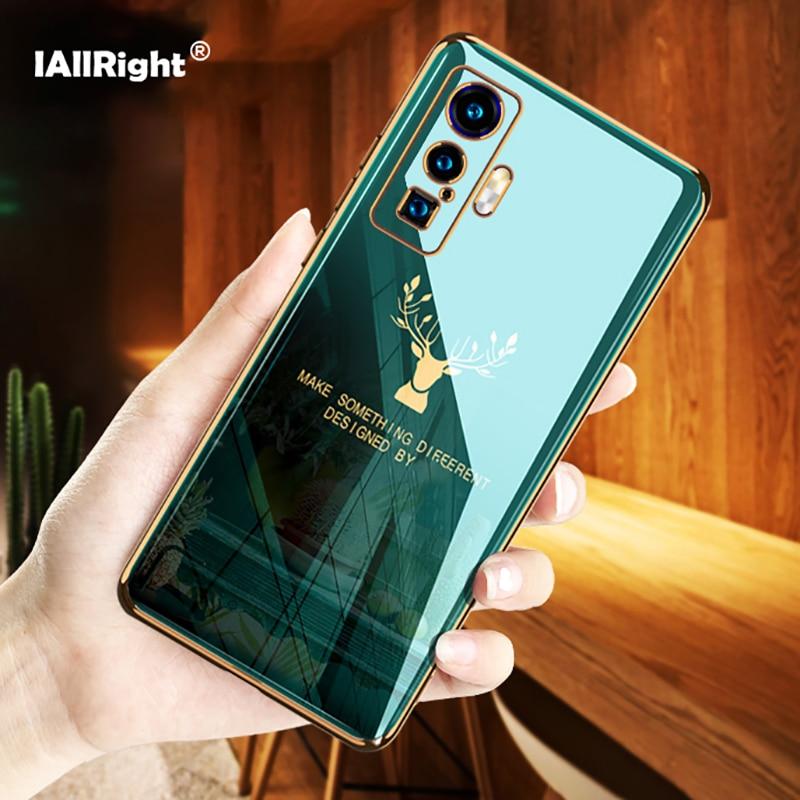 Luxury Electroplating Case For VIVO IQOO 5 Pro Soft Silicone TPU Deer Phone Bags Coque Fundas
