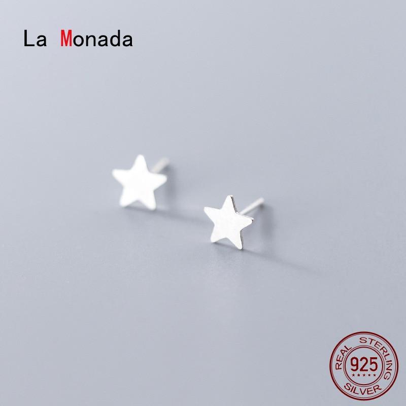 Серьги-гвоздики-la-monada-для-женщин-серебро-925-пробы-Минималистичная-звезда-изящные-женские-серьги-ювелирные-изделия-серьги-гвоздики-сереб