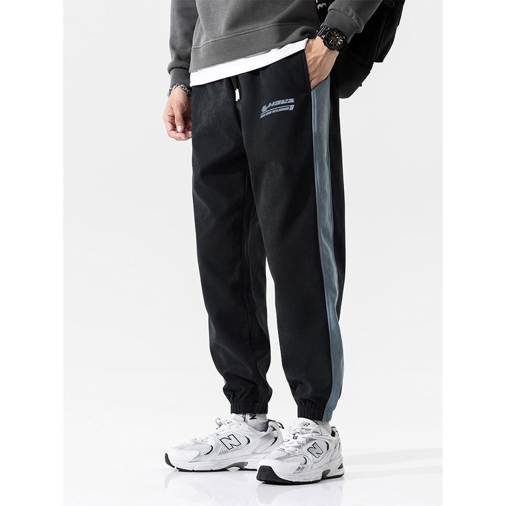 2021 الخريف سراويل من الصوف عادية الهيب هوب الرجال Sweatpants موضة الشارع الشهير عداء ببطء صالة ارتداء بلون الرجال الشارع الشهير السراويل
