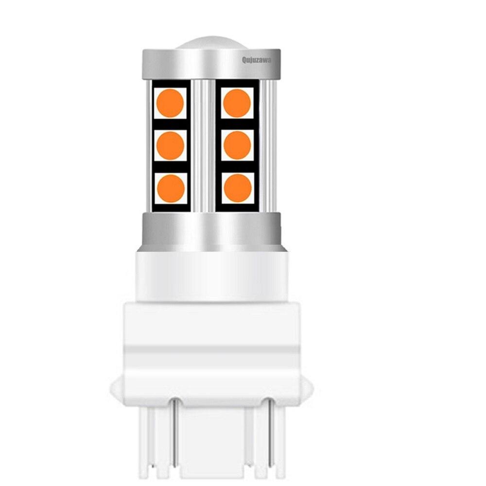 100PCS Neue T25 3157 P27/7W P27W 3030 LED Auto Schwanz Bremse Lampen Auto Tagfahrlicht blinker Rückwärts Glühbirne 3156 3057 3456