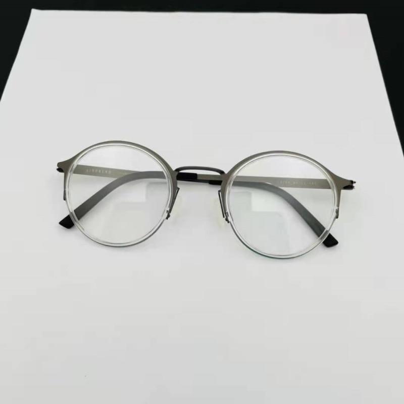 Дания бренд ретро круглая титановая оправа для очков Легкие мужские женские мужские очки по рецепту очки серые 9785