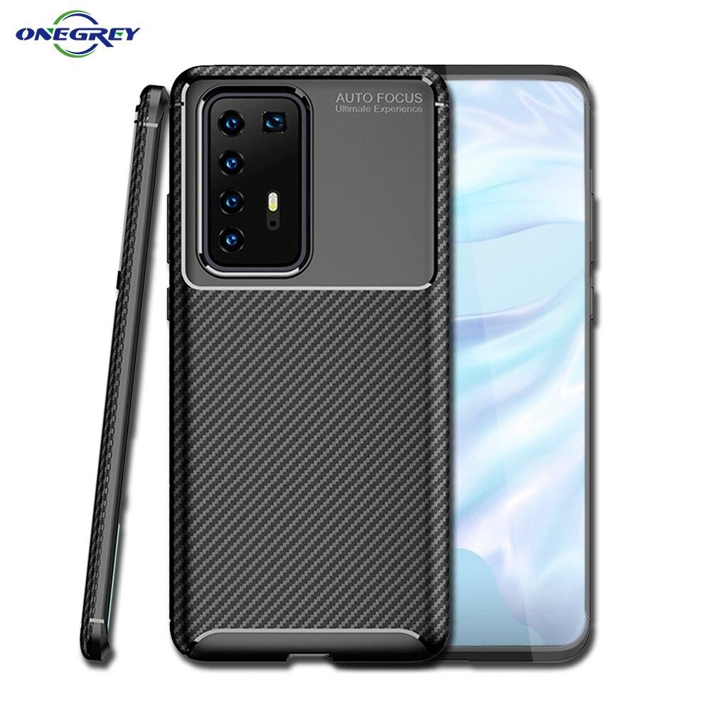 Caso de Huawei P40 P30 P20 Mate 30 10 20 X Lite Pro 2019 de fibra de carbono TPU Hawei Ericsson Nova 3 3i 4 5 5i 6 SE Pro cubierta de protección