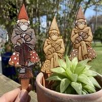 plant stake eco friendly waterproof wood easter decoration yard garden stake art sculpture garden gnomes plant garden ornaments