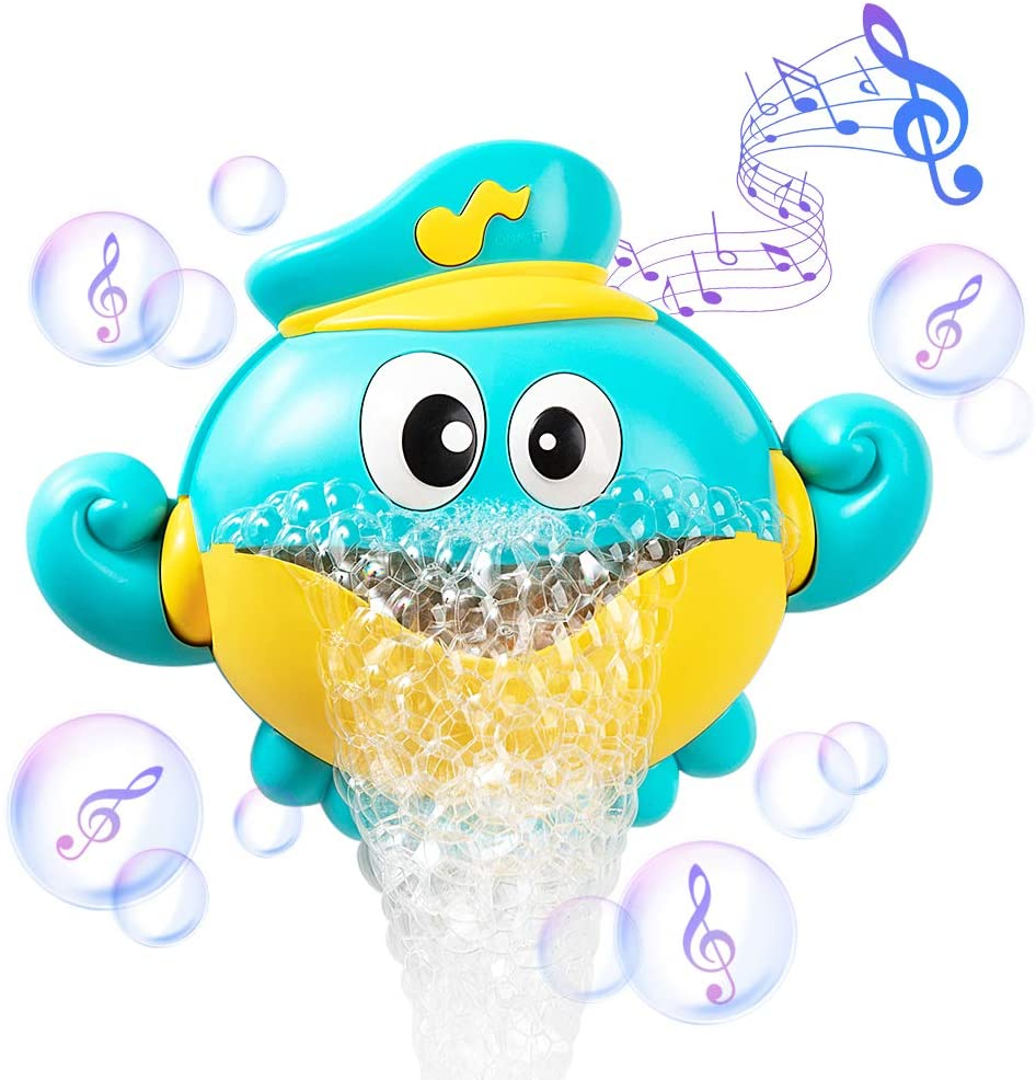 Baby Bath Toys Bubble Machine Crabs Frog Music Kids Bath Toy Bathtub Soap Automatic Bubble Maker Bab