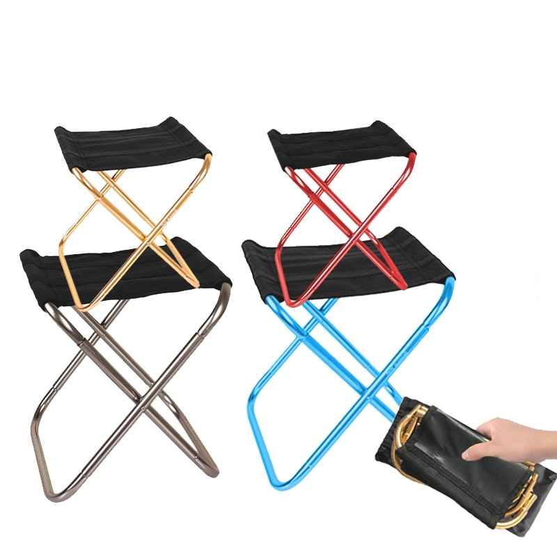 portable aluminum folding chair stool seat outdoor fishing camping picnic padded folding chair fishing Camping Chair Fishing Folding Chair Lightweight Foldable Picnic Chair Aluminium Outdoor Furniture Portable Fishing Seat