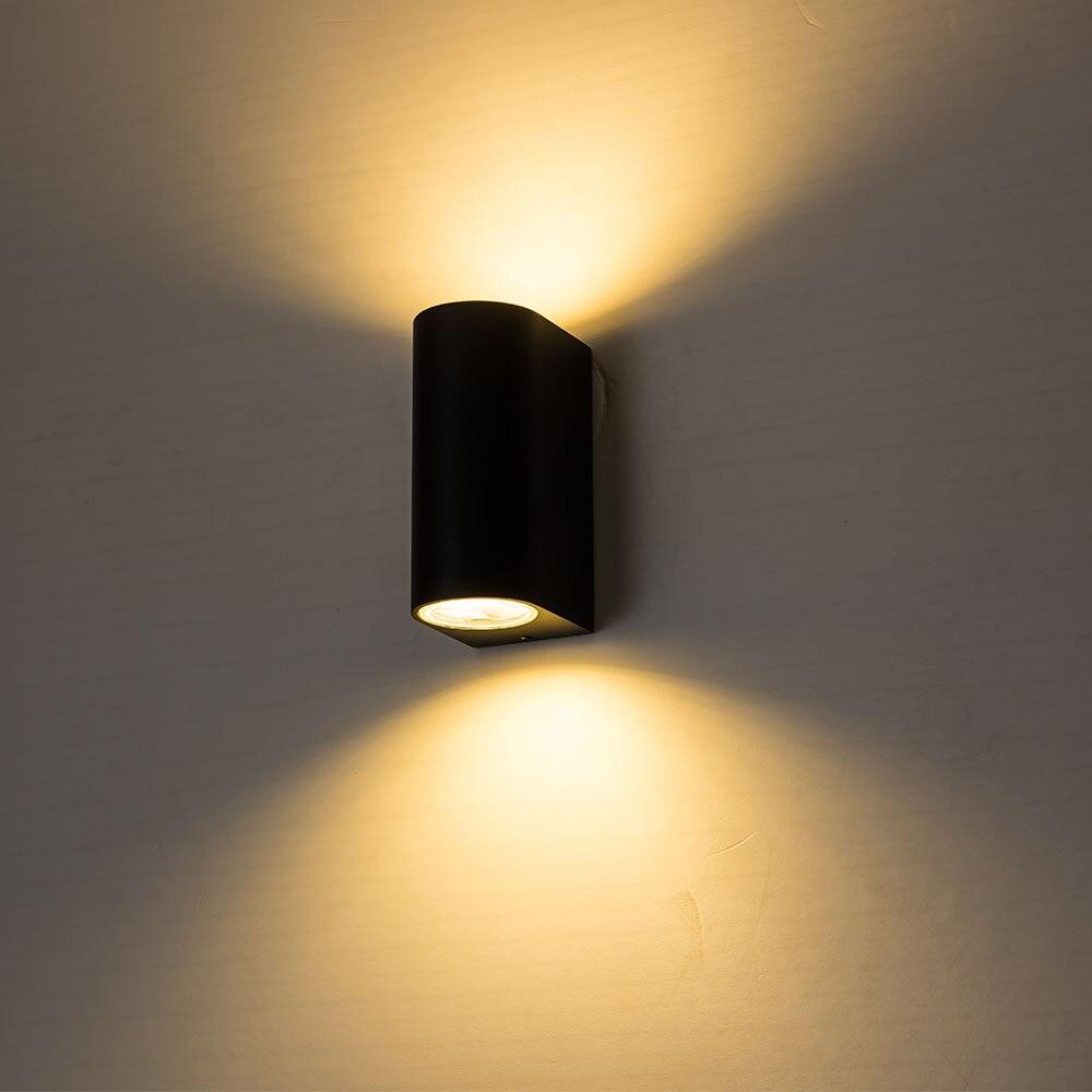 يموت الصب الألومنيوم 10 واط وحدة إضاءة led جداريّة ضوء لغرفة النوم AC110V AC220V الشرفة أضواء مقاوم للماء الجدار مصباح دعوة شمعدانات جدارية IP65