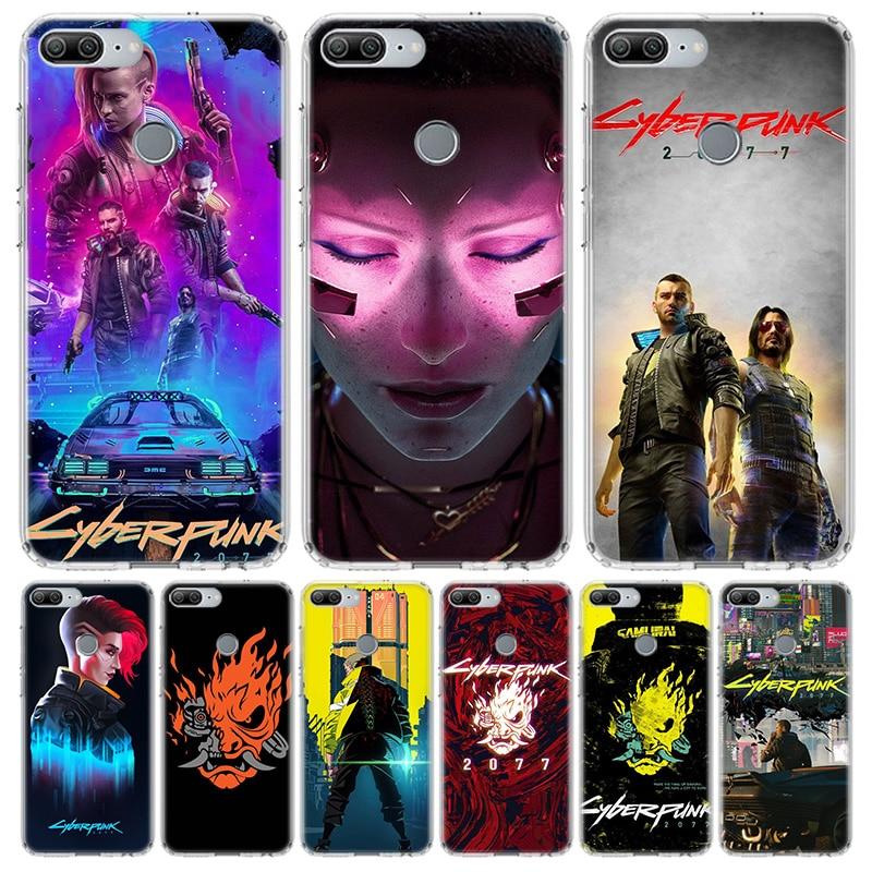 Jogo Cyberpunks 2077 Caixa Do Telefone para Huawei Honra 10 9 20 7A 7X 8A 8S 8X 9X Lite Pro Y5 Y6 Y7 Y9S 2019 10i 20i Coque Capa Capa