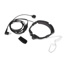 Profesional estirable fácil de usar walkie-talkie M cabeza Control de garganta dedo PTT auricular altavoz para Motorola