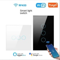 avatto tuya wifi smart light switch with luxuray glass panel touch sensor smart wall switch voice use with alexa google home