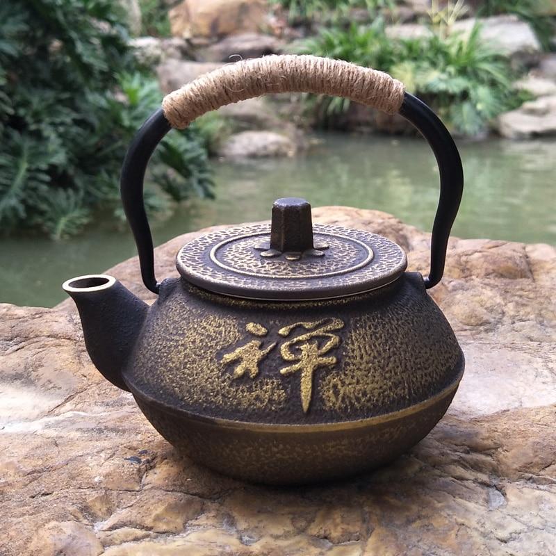 Cobre dinero olla de hierro japonés tetera de hierro fundido retro pequeña olla de hierro antiguo de oro de dinero olla de hierro Zen té de hierro fundido té