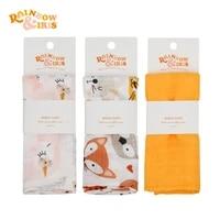 rainbowiris baby bamboo cotton muslintowel scarf newborns bathing feeding face washcloth wipe 60%c3%9760cm