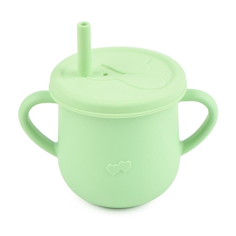 Детская чашка для питья, герметичная чашка, чашка из соломы, Детская тренировочная чашка, Детская силиконовая чашка из соломы