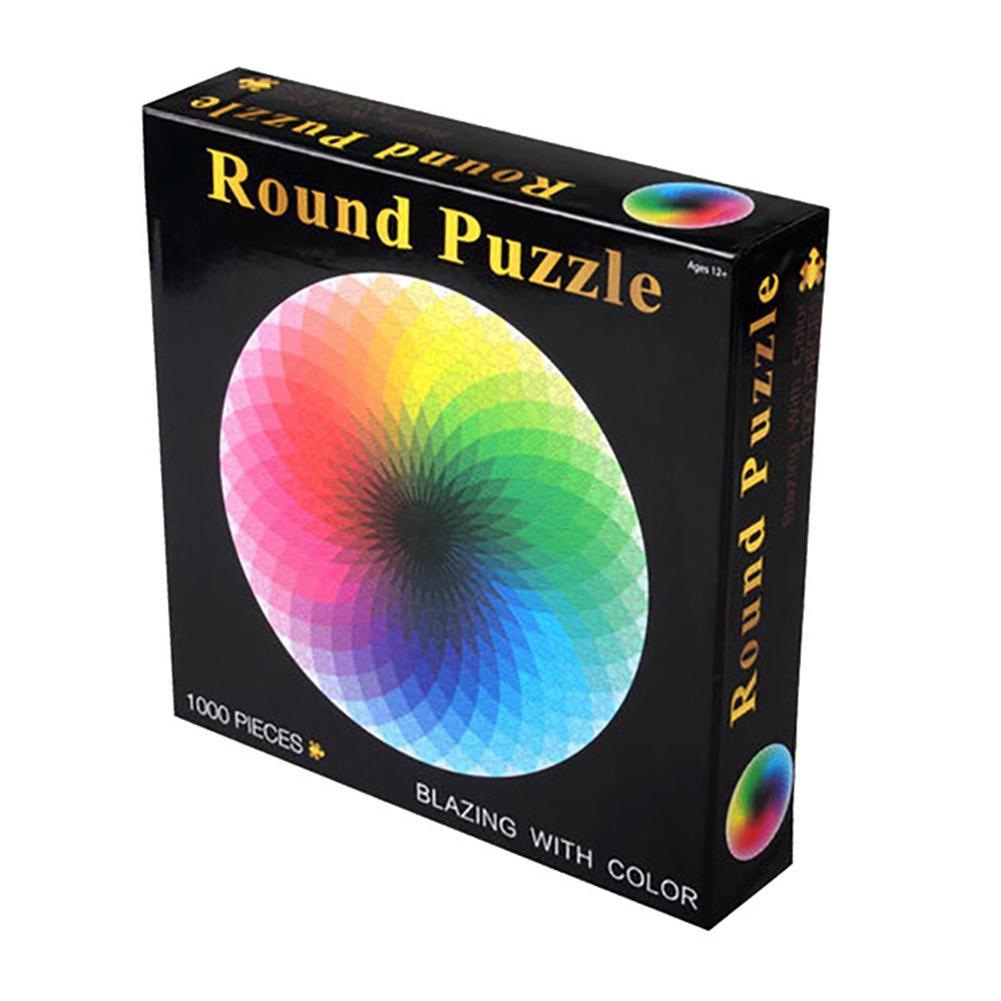 1000 шт./компл. красочные радужные круглые геометрические фото головоломки для взрослых детей DIY обучающие игрушки для снятия стресса головол...