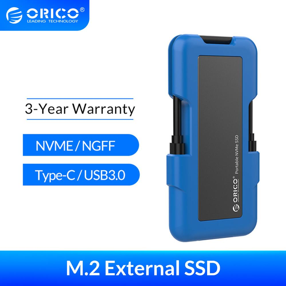 ORICO External SSD M.2 NVME NGFF SSD 1TB SSD 128GB 256GB 512GB hard drive Portable SSD Solid State Drive with Type C USB 3.1