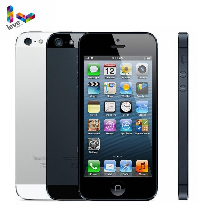 "Used Apple iPhone 5 Mobile Phone 16/32/64GB ROM 4.0"" 8MP WIFI GPS IOS Bluetooth 1.3GHz Fingerprint Unlocked Cell Smartphone"