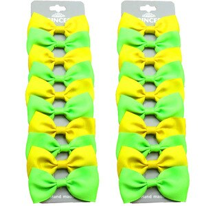 20PCS/Lot Lovely Yellow and Green Hairpins Grosgrain Ribbon Bows Clips 2020 Korean Creativity Hair Accessories For Baby Girls