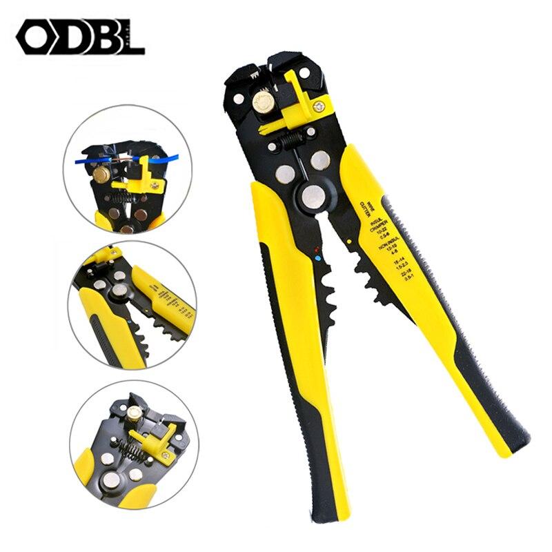 Alicates de múltiples herramientas, pelador automático, cortador de cables, capacidad de 0,25-6mm, alicates de pelado, herramientas eléctricas de reparación