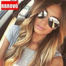 RBROVO 2021 Classic Pilot occhiali da sole da donna occhiali da vista Vintage in metallo Street Beat Shopping Mirror Oculos De Sol Gafas UV400