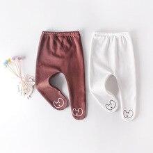 WLG الطفل الجوارب الوليد بنين بنات المخملية الكرتون الأبيض براون جوارب طويلة طفل الشتاء الدافئة جوارب لمدة 6-18 أشهر