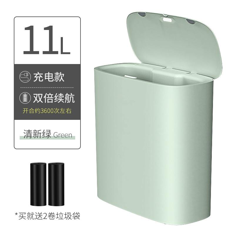 Nordic White Trash Bin Plastic Rectangle Modern Trash Can Kitchen Storage Rangement Cuisine Household Cleaning Tools BD50WB enlarge
