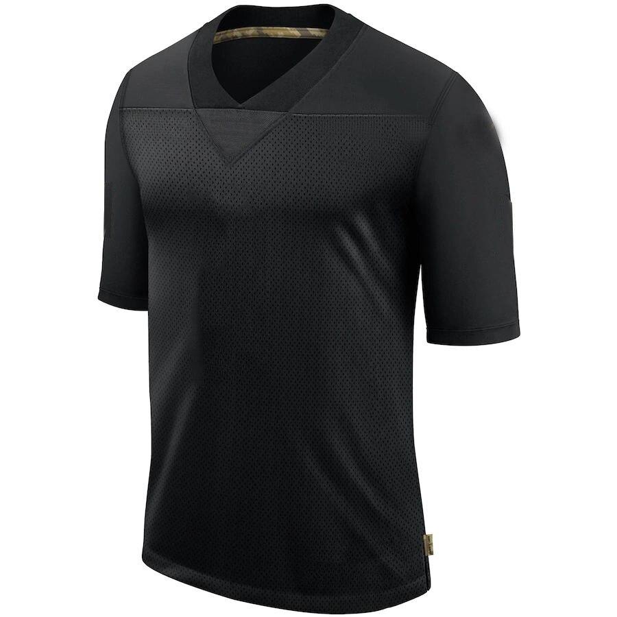 Мужская футболка для американского футбола с номером и именем стежка, черная футболка для фанатов 2020 года по индивидуальному заказу