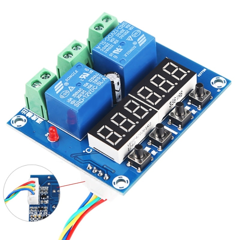 XH-M452 Temperatuur Vochtigheid Controller Module Thermometer Hygrometer Controller Dc 12V Dual Led Digitale Display Nieuwe