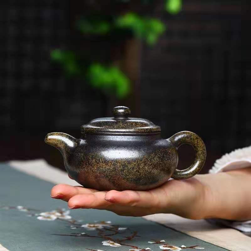 Yixing اليدوية الأرجواني الرمال إبريق الشاي الخام خام السمسم الحطب حرق العتيقة وعاء الكونغ فو إبريق الشاي جمع حفل طقم شاي