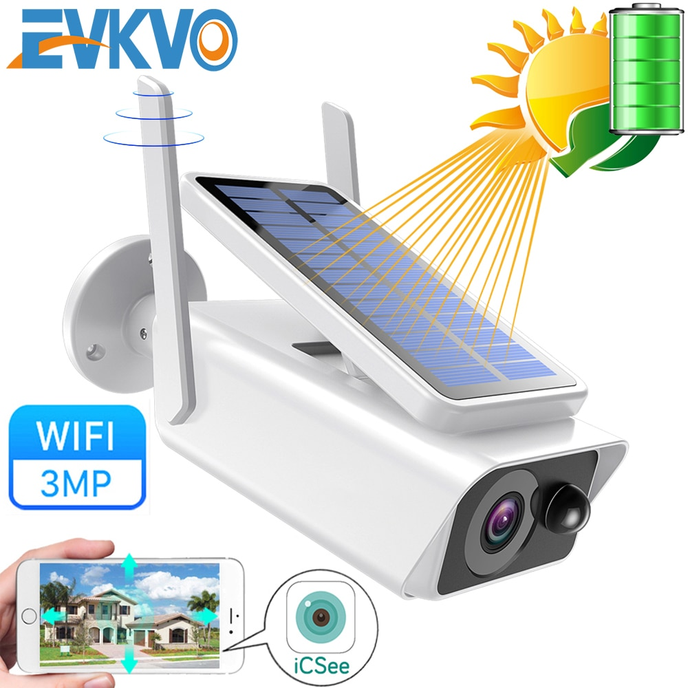 FHD 3MP batería Solar WiFi Cámara al aire libre IR visión nocturna Audio bidireccional PIR alarma de detección inalámbrica recargable cámara IP CCTV