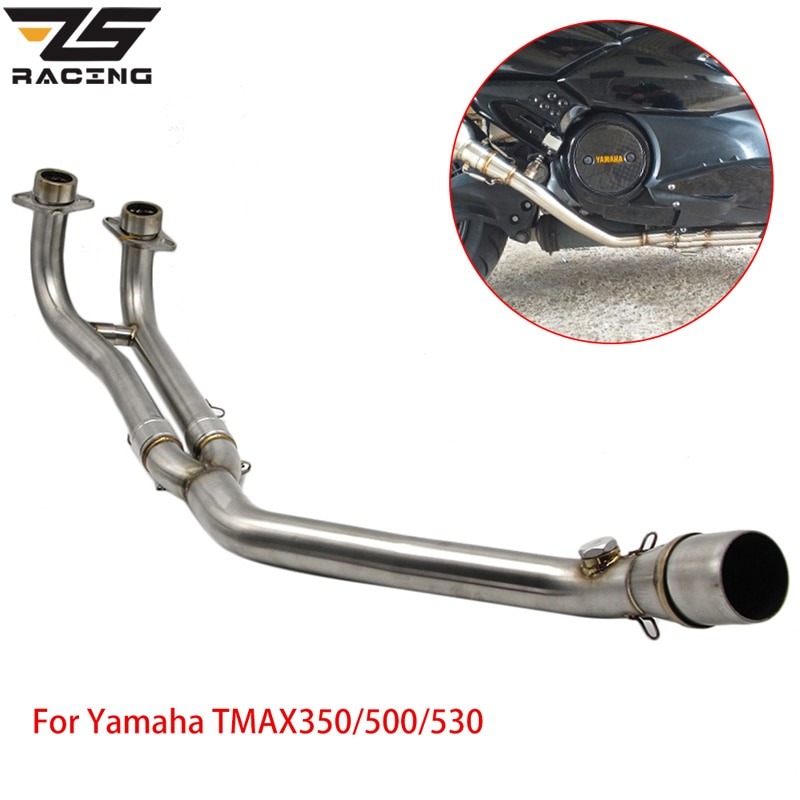 ZS سباق الدراجات النارية العادم نظام كامل الأنابيب الوسطى لياماها T-MAX Tmax 500 530 T-MAX 500 530 2001-2016