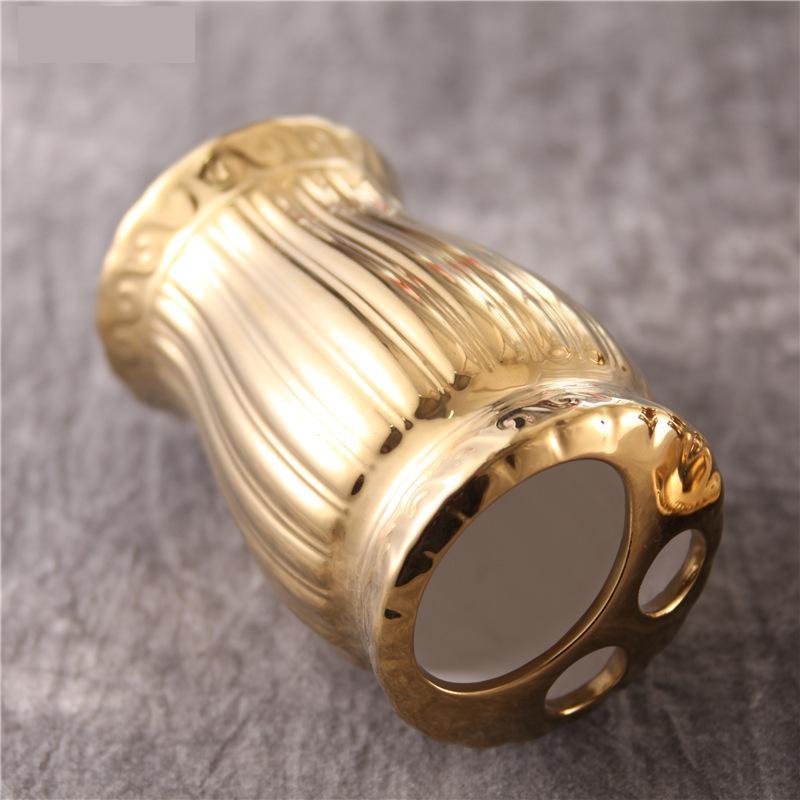 Bathroom Accessories Golden Ceramic Bathroom Set Dispenser Bottle Toothbrush Holder Storage Box set of 5 enlarge