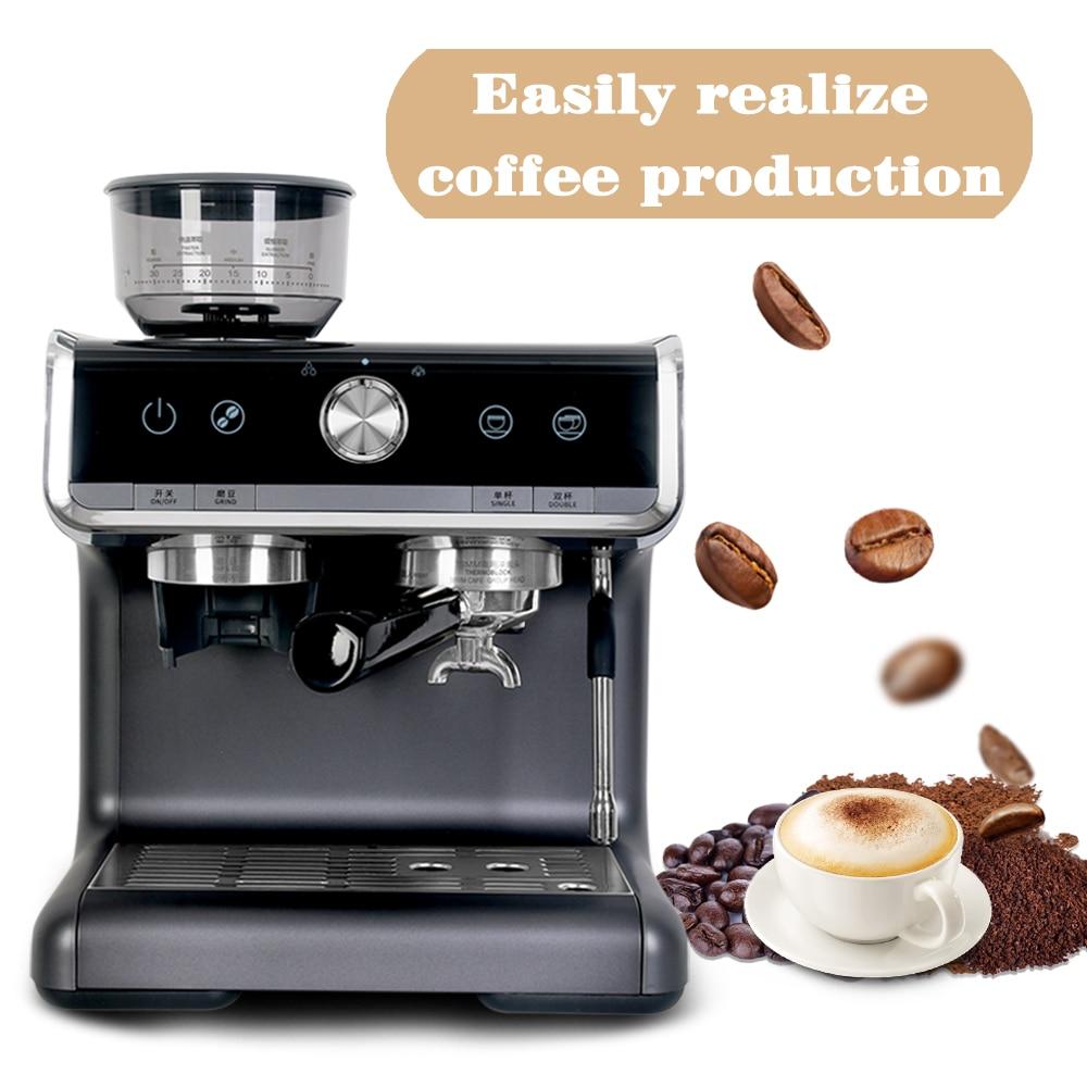 Автоматическая кофемашина с измельчителем, 15 бар, кофеварка для кружек, коммерческая профессиональная машина Espesso для кафе, отеля