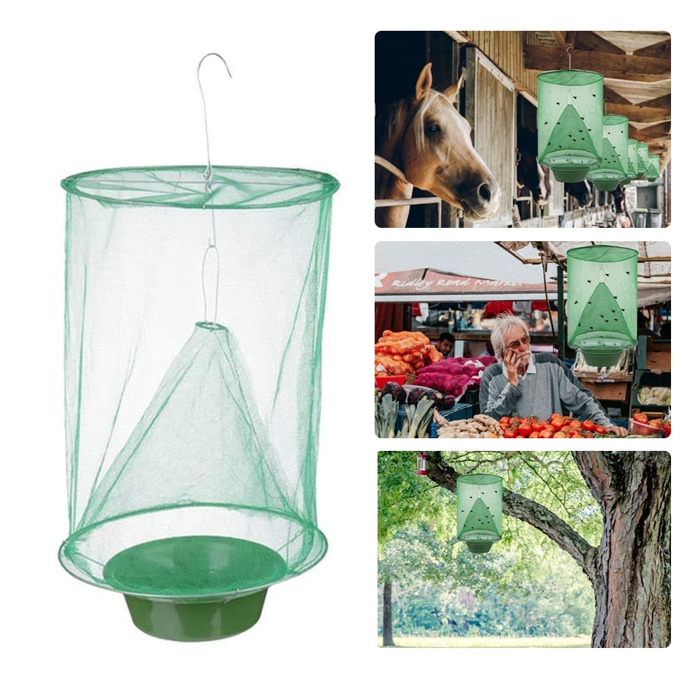 Hanging Folding Reusable Fly Trap Net Fly Trap Pest Killer Pest Trap Trap Trap Net Pest Control Hunting Outdoor Garden Tool