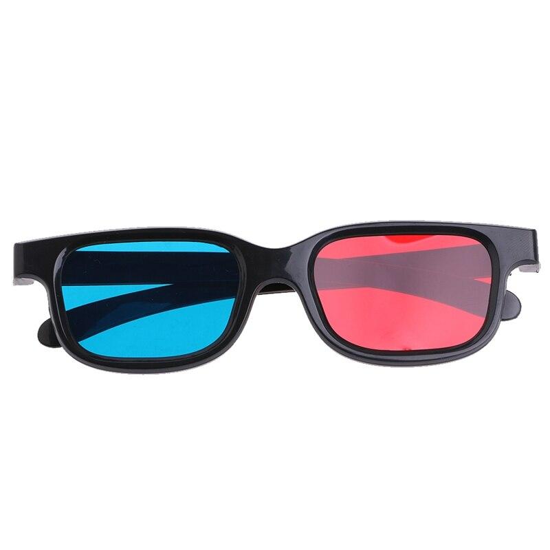 Universal Black Frame Red Azul Ciano Anaglyph 3D 0.2 milímetros Óculos Para Filme Jogo DVD