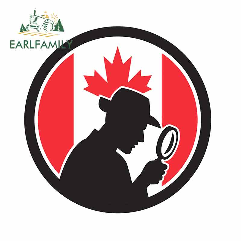 EARLFAMILY 13cm x 13cm for Canadian Private Car Stickers Vinyl Graffiti Sticker 3D Funny Waterproof Window VAN Vehicle Decal