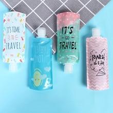 Travel Folding Lotion Bag Portable Shower Gel Shampoo Sub Bottle Facial Cleanser Liquid Emulsion Sto