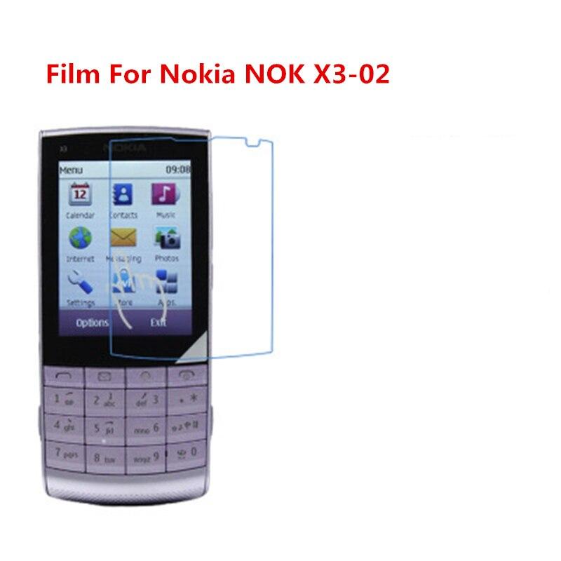1/2/5/10 Uds. Película protectora de pantalla LCD Ultra delgada HD con película de paño de limpieza para Nokia NOK X3-02.