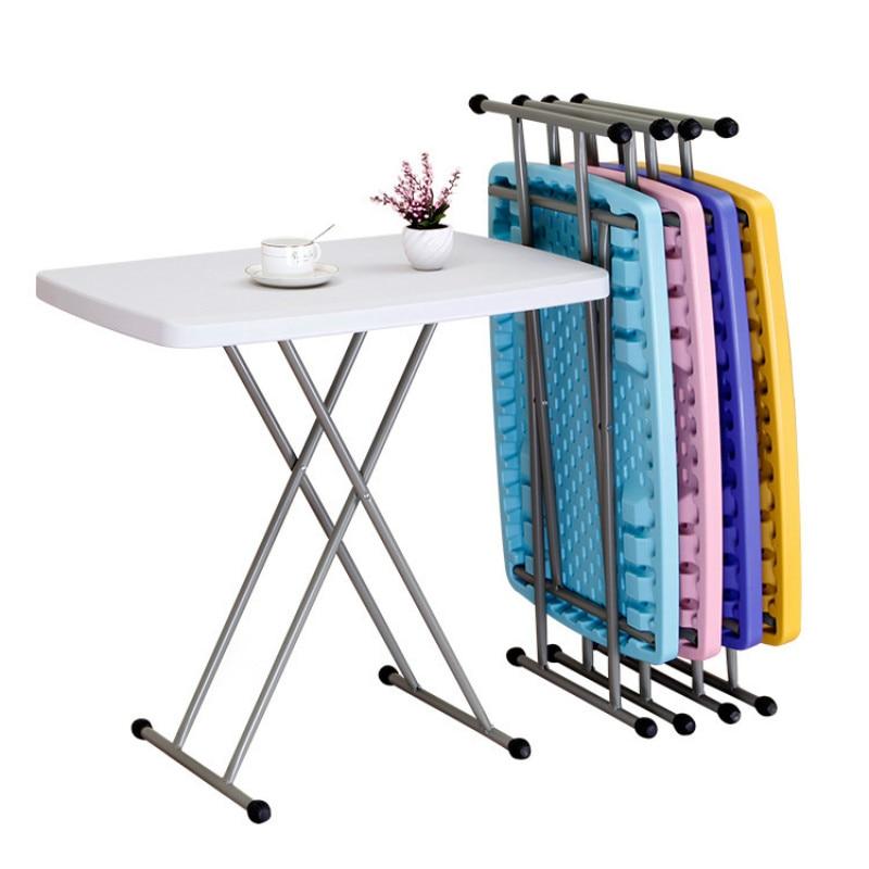 Mesa de ordenador de colores, mesa plegable Simple, altura ajustable, mesa de estudio, mesa portátil, bandeja de soporte para sofá cama