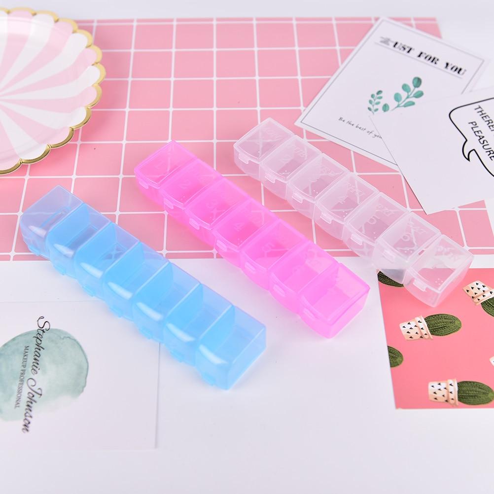 7 dias pílula caso medicina armazenamento tablet caixa de pílula com clipe tampas medicina organizador dispensador semanal 3 cores
