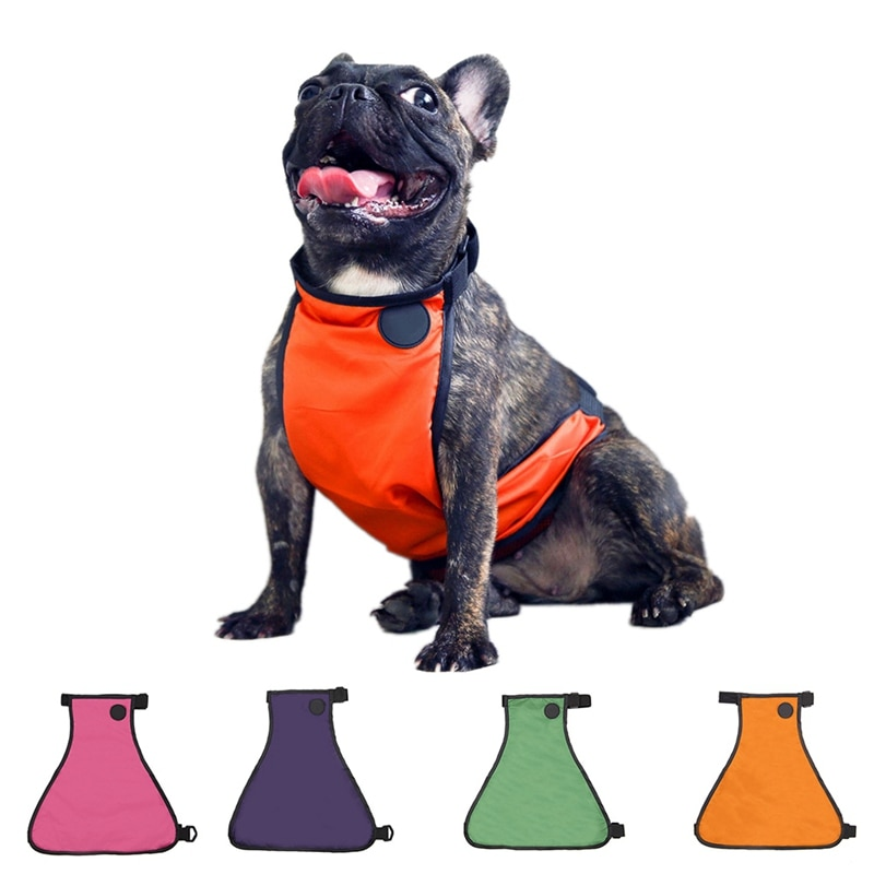 Ropa para mascotas perro chaqueta de lluvia liviana ropa cinturón impermeable
