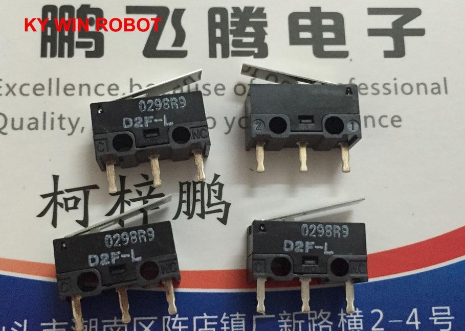 5pcs/lot Japan OMRON D2F-L mouse micro switch pendulum type 3 pin 3A