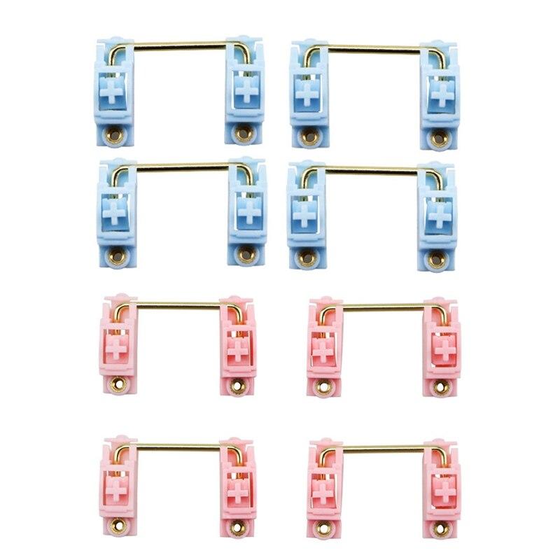 2 مجموعة شفافة الذهب مطلي Pcb برغي ل مخصص الميكانيكية لوحة المفاتيح 2U 6.25U ل 104/108/96 لوحة المفاتيح ، الأزرق و الوردي