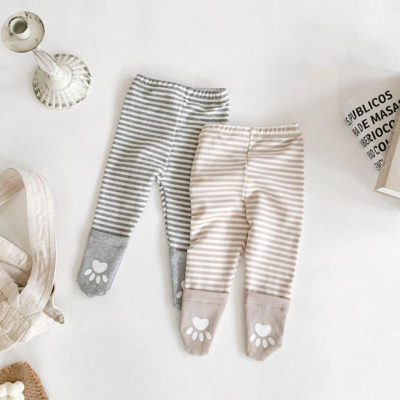 Новые осенние детские колготки, хлопковые колготки для мальчиков и девочек, милые детские чулки с рисунком, колготки для малышей 0-24 месяцев