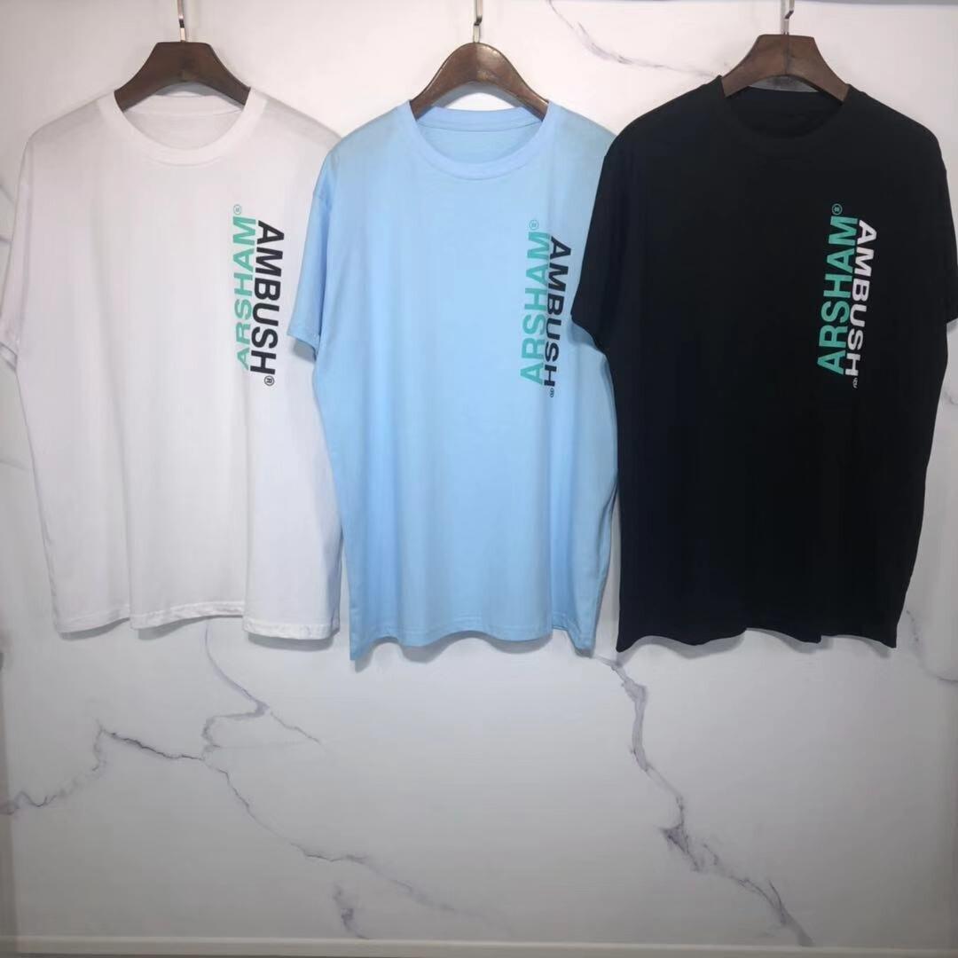 DISEÑO BÁSICO, Top Version, camisetas con estampado de ARSHAM, camisetas de gran tamaño para hombres, mujeres, parejas, Hiphop, algodón, tender, camiseta para hombres