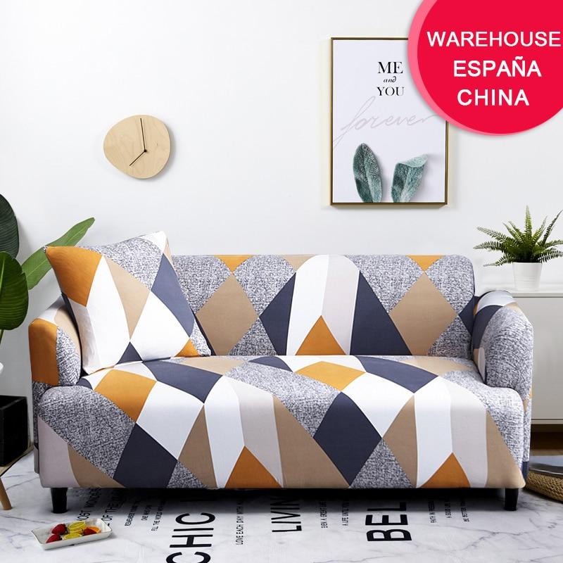 Coolazy Stretch Plaid Sofa Slipcover Elastic Sofa Covers for Living Room funda sofa Chair Couch Cover Home Decor 1/2/3/4-seater