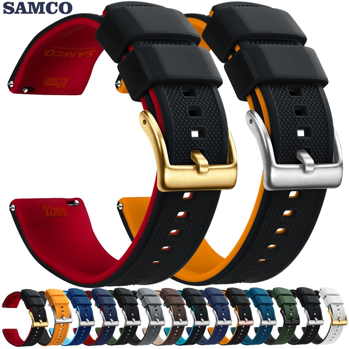 Ремешок силиконовый для мужских и женских часов, быстросъемный резиновый водонепроницаемый сменный Браслет для мужских и женских наручных...