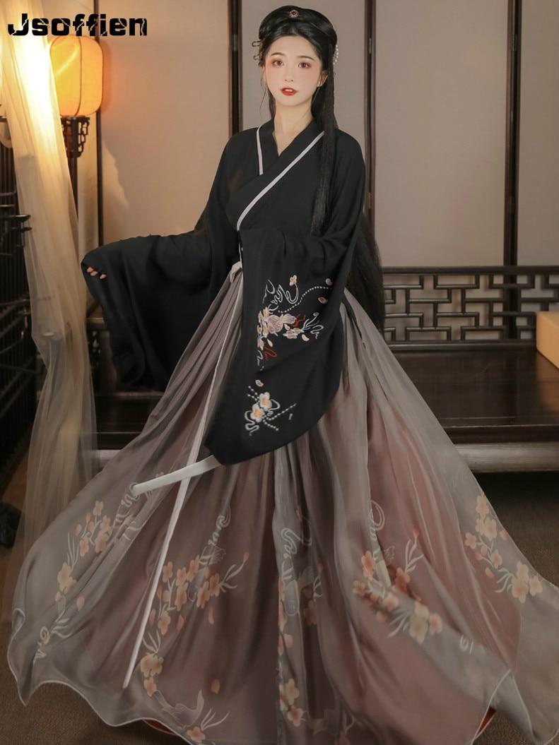 Woman Traditional Hanfu Clothing Chinese Folk Dance Costume Lay Han Dynasty Princess Dance Wear Girl Vintage Fairy Stage Dress
